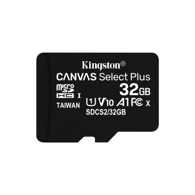 MICRO SD KINGSTON 32GB MICSDHC CANVAS SELECT PLUS A1 C10 SINGLE PACK
