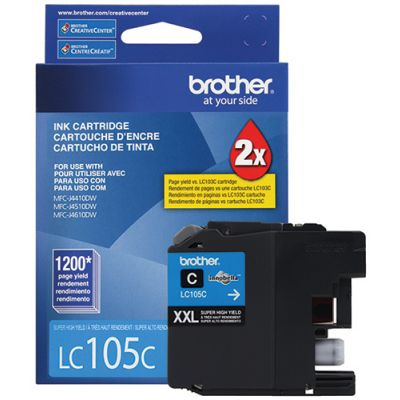 CARTUCHO DE TINTA BROTHER LC105C CYAN XL 1200 PAG P/6720DW/6920DW