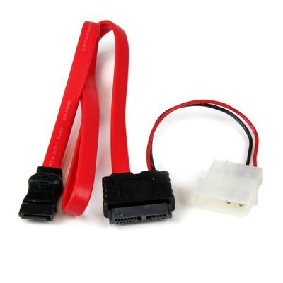 Cable divisor 0.5m  slimline SATA a SATA LP4   STARTECH SLSATAF20