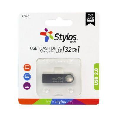 MEMORIA USB STYLOS STMUSB3B PLATA 32 GB USB 2.0