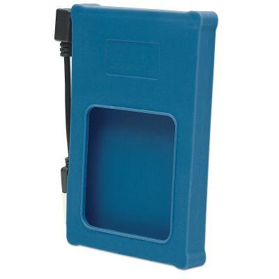 GABINETE PARA HDD MANHATTAN 2.5 SATA USB V2.0 SILICON AZUL 130110