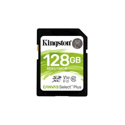 MEMORIA SD KINGSTON SDXC CANVAS SELECT 100R CL10 UHS-I V30(SDS2/128GB)