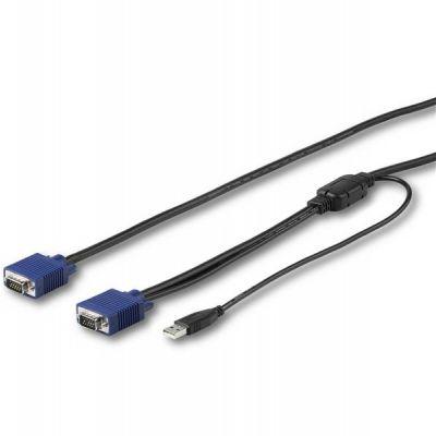 CABLE KVM STARTECH USB Y VGA 4.6M MONTAJE EN RACK RKCONSUV15