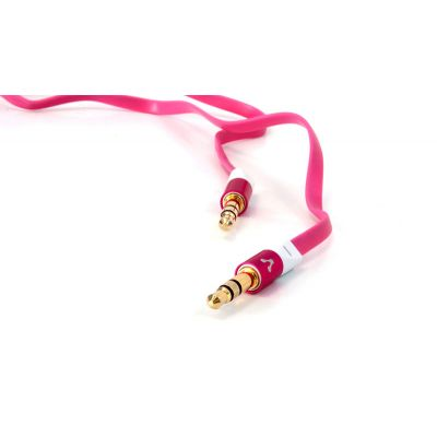 CABLE DE AUDIO VORAGO CAB-108 3.5 MM METALICO ROSA BLISTER
