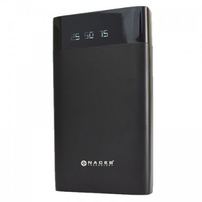 POWER BANK NACEB TECHNOLOGY NA-0703 NEGRO UNIVERSAL 10000 MAH 5 V