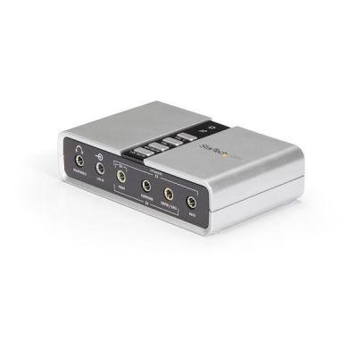 TARJETA DE SONIDO 7.1 USB EXT.  PUERTO SPDIF  STARTECH ICUSBAUDIO7D