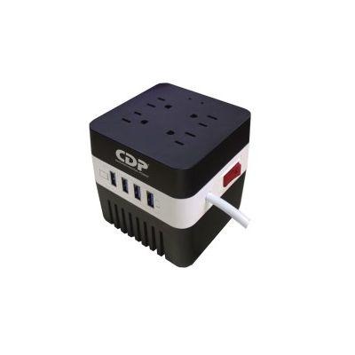 REGULADOR CDP RU-AVR604 600VA 4 CONTACTOS, 4 USB DE RECARGA