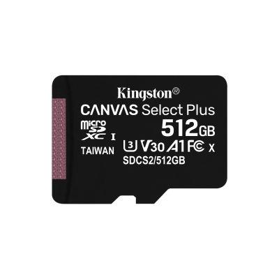 MEMORIA MICRO SDXC 100R A1 CL10 KINGSTON 512 GB (SDCS2/512GB)