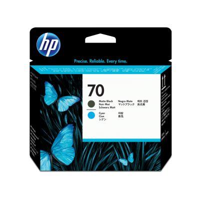 CABEZAL HP 70 CYAN-NEGRO MATE DESINJET Z2100/Z3200/Z5200 (C9404A)