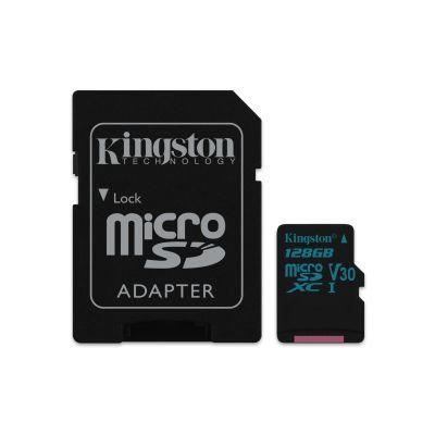 MEMORIA MICROSDXC KINGSTON 128GB UHS-I CLASE 10 ADAPTADOR SDCG2/128GB