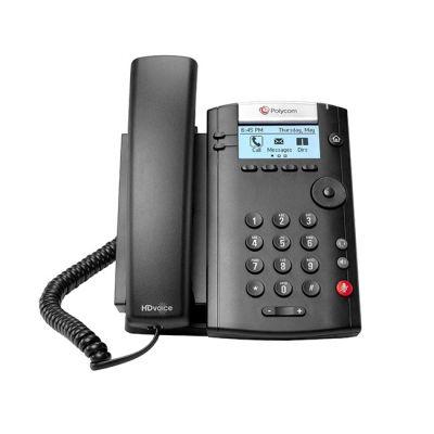 TELEFONO POLYCOM VVX 201 2 LÍNEAS ETHERNET POE NEGRO