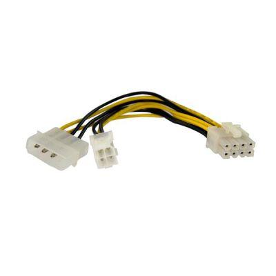 Cable Alimentacion  0.15m EPS 4 pin y LP4 a 8 pines STARTECH EPS48ADAP