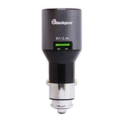 CARGADOR DE CARRO BLACKPCS EPIO22-BL NEGRO USB