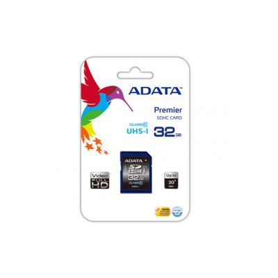 MEMORIA SDHC ADATA 32 GB ADATA CL10 UHS-I  U1 (ASDH32GUICL10-R)