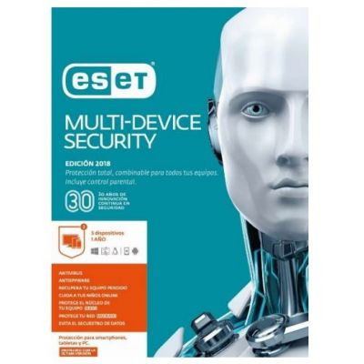 ESET MULTIDEVICE SECURITY 3USR 1YR V2018 (TMESET-205)