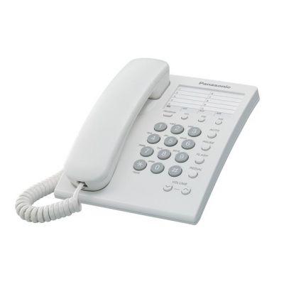 TELEFONO ANALOGICO PANASONIC ESCR/PARED BLANCO P/10 NUM KX-TS550MEW