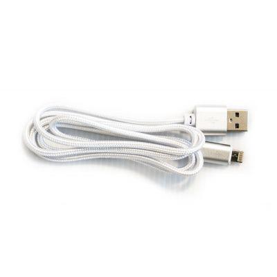 CABLE VORAGO CAB-209 DUAL MICRO USB/LIGHTNING BLANCO 1M BOLSA