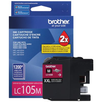CARTUCHO DE TINTA BROTHER LC105M MAGENTA XL 1200 PAG P/6720DW/6920DW