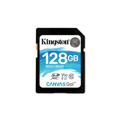 MEMORIA SD KINGSTON 128GB CL10 SDHC CANVAS GO 90R/45W CL10 SDG/128GB