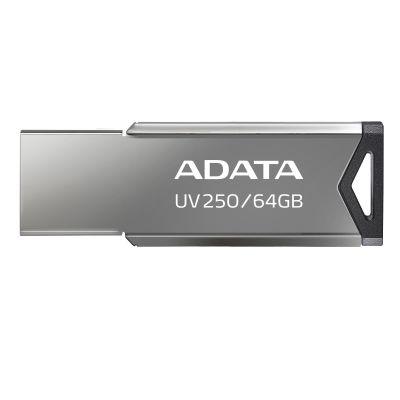 MEMORIA USB FLASH ADATA UV250 64GB USB 2.0 PLATA (AUV250-64G-RBK)