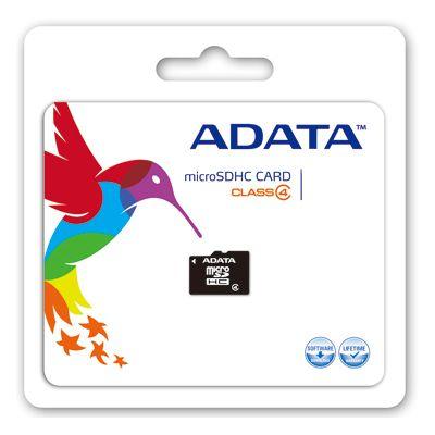 MEMORIA MICRO SDHC ADATA 32 GB C/ADAPTADOR CL4 (AUSDH32GCL4-RA1)
