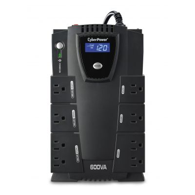 NO BREAK CYBERPOWER 600VA 340W LCD 8 CONT USB CP600LCD