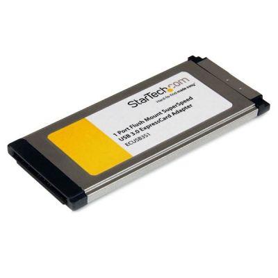 Tarjeta ExpressCard 34 USB3.0  1PTO Montaje Ras STARTECH ECUSB3S11
