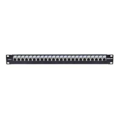 PANEL PARCHEO INTELLINET CAT 6, 24 PTOS 1U C/BLOQUEO 720564