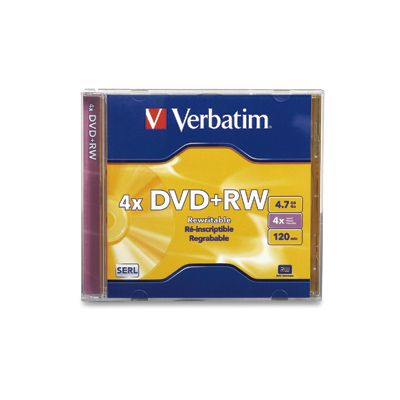 DISCO INDIVIDUAL DOBLE CAPA EN CAJA VERBATIM DVDRW 4.7GB 8X 120MIN
