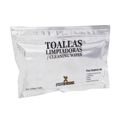 TOALLAS HUMEDAS PERFECT CHOICE PARA LCD, ANTIESTATICA PC-030270
