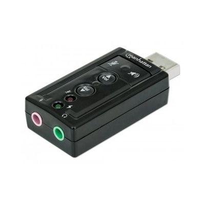 CONVERTIDOR MANHATTAN USB 2.0 A TARJETA SONIDO 3D 7.1 151429