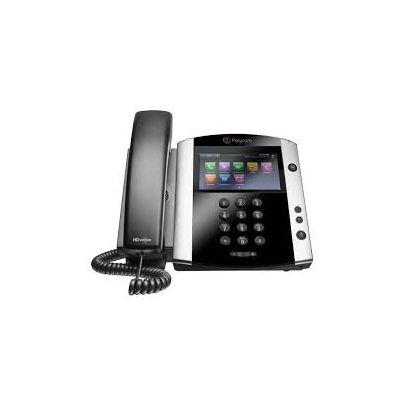 "TELEFONO POLYCOM VVX 601 LCD 4.3"" TOCUH 16 LINEAS ETHERNET RJ9 NEGRO"