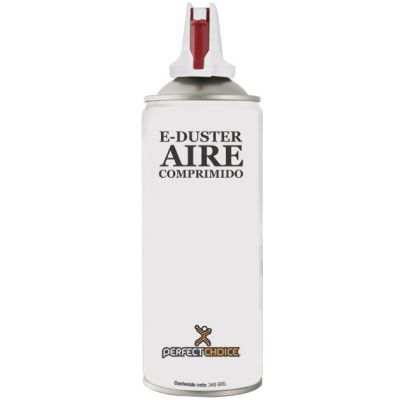 AIRE COMPRIMIDO PERFECT CHOICE,PARA REMOVER POLVO,340G,BLAN PC-030300