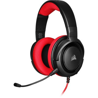 DIADEMA GAMING CORSAIR HS35 STEREO RED 3.5 MM CA-9011198-NA