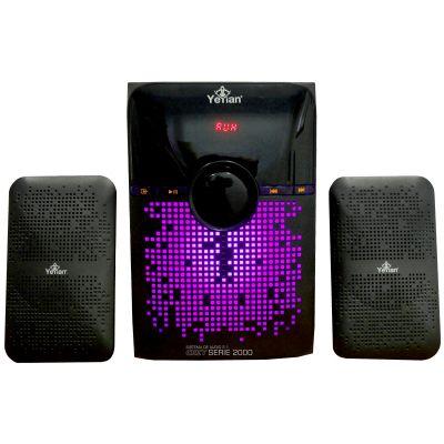 BOCINAS YEYIAN SONIDO ESTEREO 2.1 DISPLAY LED BT SD USB FM YSK2000