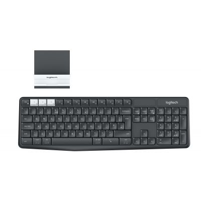 TECLADO LOGITECH K375s MULTI-DEVICE + STAND BTOOTH/USB IOS/MAC/WINDOWS