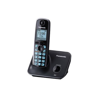 TELÉFONO INALÁMBRICO PANASONIC PARA ESCRITORIO, NEGRO, PANTALLA LCD