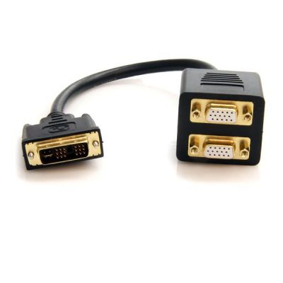 Cable 30cm Divisor Video DVI-I  Splitter a 2Pto VGA STARTECH DVISPL1VV