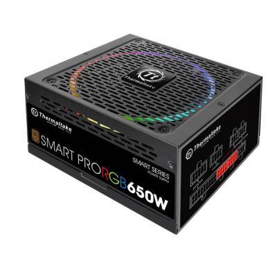 FUENTE DE PODER THERMALTAKE SMART PRO RGB 650W 80+ BRONZE