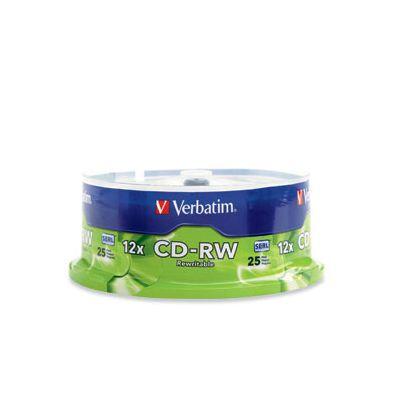 DISCO COMPACTO VERBATIM CD-RW VERBATIM 80M 12X 700MB TORRE C/25 95155