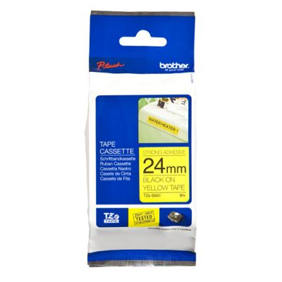 CINTA BROTHER TZES135 BLANCO SOBRE TRANSPARENTE 12 MM ERESISTENTE