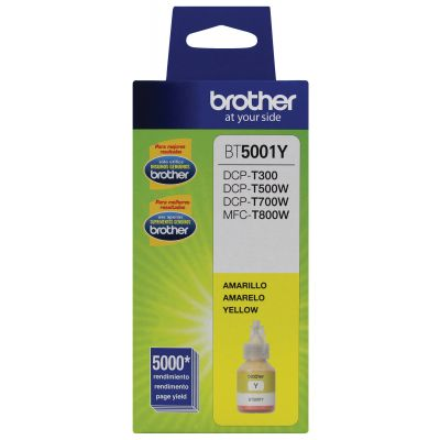 BOTELLA DE TINTA BROTHER BT5001Y AMARILLO 5,000 PAGINAS