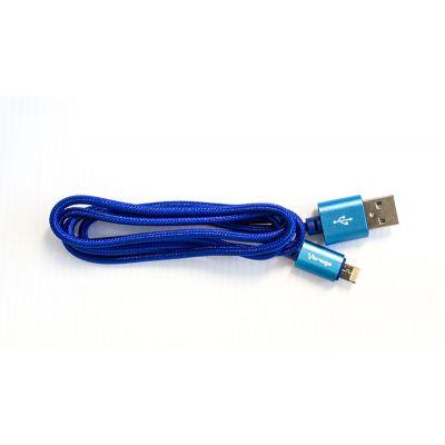 CABLE VORAGO CAB-209 DUAL MICRO USB/LIGHTNING AZUL 1M BOLSA