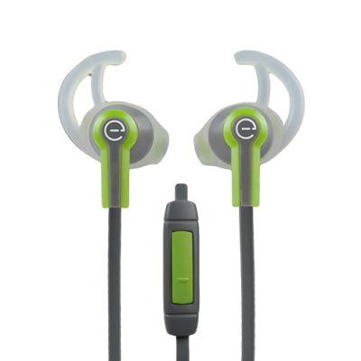 AUDIFONOS DEPORTIVOS IN-EAR EASY LINE 3.5M 1MT VERDE/GRIS EL-995227