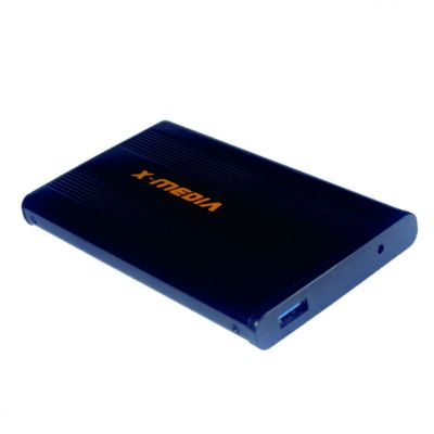 "GABINETE DE DISCO DURO X-MEDIA XM-EN2200U3-BK 2.5"" USB 3.0 ALUMINIO"