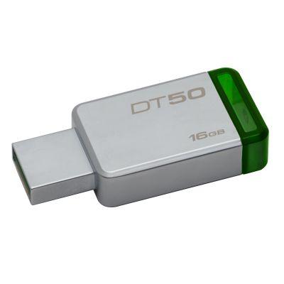 MEMORIA FLASH KINGSTON 16 GB USB 3.1 PLATA / VERDE (DT50/16GB)