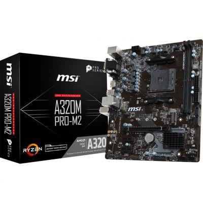 TARJETA MADRE MSI A320 PRO-M2 DDR4-SDRAM 32GB AMD SOCKET AM4 MICRO ATX