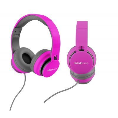 DIADEMA ACTECK ON-EAR CON MICROFONO URBAN KAOS LILA MB-916370