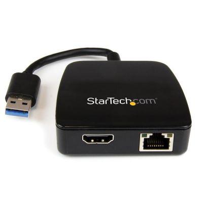 MiniReplicador Ptos USB  3.0 Ethernet Gigabit HDMI  STARTECH USB31GEHD