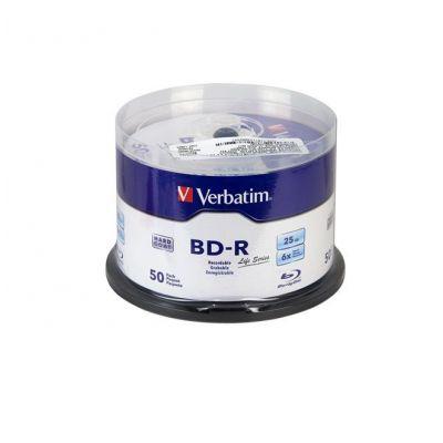 BD-R VERBATIM 6X 25GB TORRE CON 50 DISCOS BLU-RAY 98172
